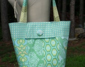 Sale on Handmade Bag Purse in Amy Butler Greens and Blues