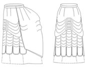 Victorian Skirt Pattern: Walking Skirt, Historical Multi Sized Sewing Pattern for 1870 - 1890 - 1880-19