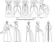 Victorian Pattern: Polonaise and Tea Gown - Historical Multi Size Sewing Pattern. 1880-15
