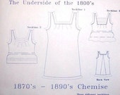Victorian Chemise Pattern: Hstorical Multi Sized Sewing Pattern - 1880-1