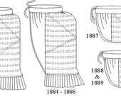 Bustle Pattern: Victorian Underpinnings Sewing Pattern - 1880-4