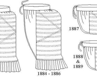 Bustle Pattern: Victorian Underpinnings Sewing Pattern - 1880-4
