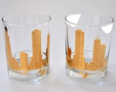 Chicago Skyline Rocks Glasses