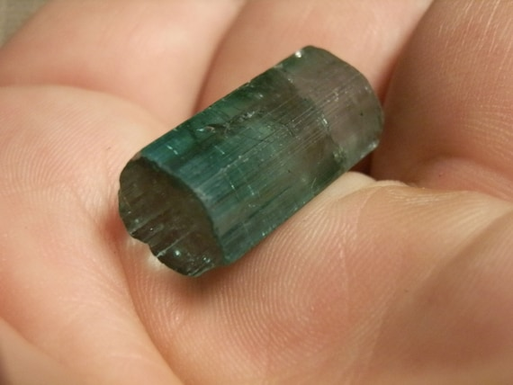 Tourmaline Crystal. Super nice. Watermelon. Clear tip. Natural termination. High quality.