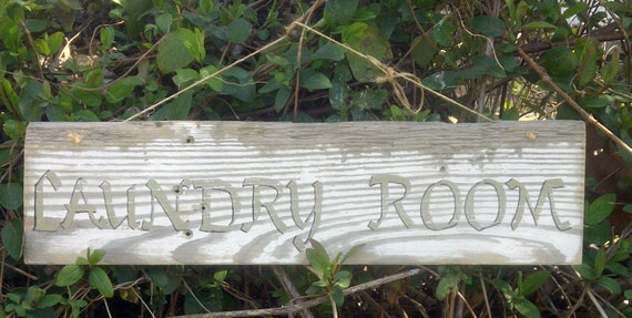 Laundry Sign Shabby Chic Reclaimed Wood