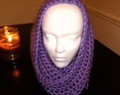 Purple Hooded Convertible Cowl