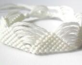 All White Friendship Bracelet - Glow in the Dark - Macrame