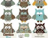 Owls Clip Art Chocolate Mint Woodsy Owl Digital Birds