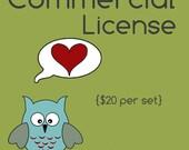 Rhoda Design Studio Commercial Use License No Credit Required per Graphic SET