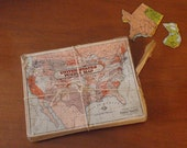 Vintage United States Map Puzzle by Wilder Mfg