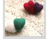 Hand Needle Felted Double Love Pins