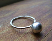 Cute, delicate, Romantic, YES I DO ,Silver Pearl Engagement Ring