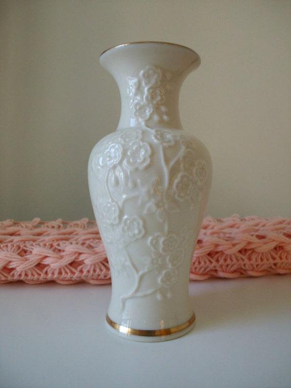 Vintage Lenox Embossed Flower Bud Vase