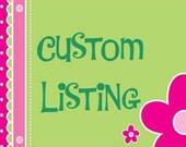 Custom Listing for rbwed10