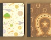 Spaceships & Cowboys Mini Notebooks - Set of 2