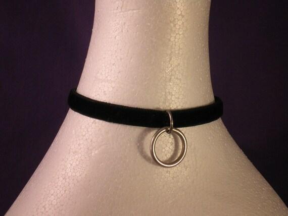 Narrow Velvet Locking Slave Collar - Absolute Devotion