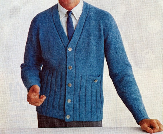 Mens Cardigan Knitting Patterns : Knitting Pattern for Mens Cardigan Sweater PDF by nonlethalforce