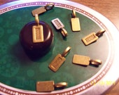 10 Brass Scrabble Tile Glue On Bails