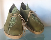 Handmade Womens Leather Shoes - Forest  Green - Light comfort  Vroni style