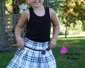 Olivia Skirt Size 2T-7T-PDF pattern- Easy Sew instruction.-Pleated skirt-elastic waistline-twirly skirt