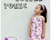 Izzy Bubble Tunic for Girls 12M - 8Y PDF pattern & Instructions-square neck-fully lined bodice-bubble hem