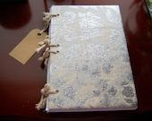Handmade Sketchbook / Glitter Glaze- Lined Paper A5