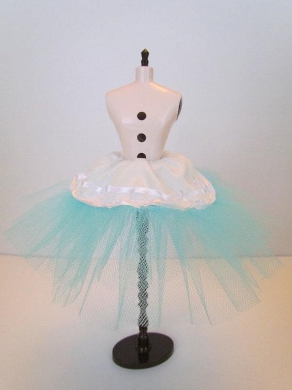 Aqua Tulle Crinoline/Petticoat/Tutu for your Blythe, Blybe or CCE doll