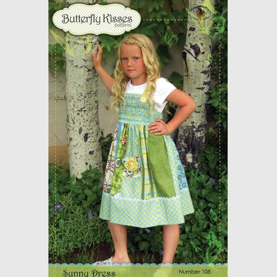 Sunny Dress Pattern Butterfly Kisses for Riley Blake FREE SHIPPING with another item
