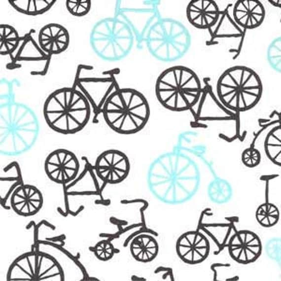 Fabric by the yard Michael Miller Bicycles in Haze 1 yard