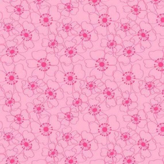 SALE Tonal Floral in Pink, Bella Flora by Studio E, 1 half-yard