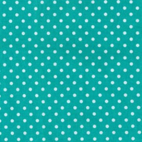 Dinky Dots in Turquoise, Michael Miller - 1 yard
