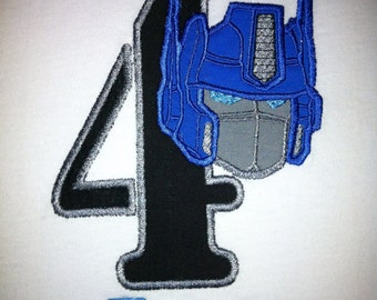 Transformers Optimus Prime Birthday Shirt - You Customize
