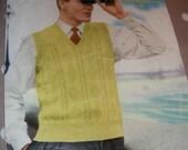 Vintage 1950s Sirdar Mans Pullover Knitting pattern