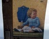 1950s Ladyship Childs Cardigan Pullover Knitting Pattern