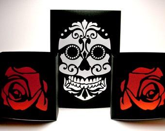 Items similar to Día de los Muertos Game Table - Dominos ...