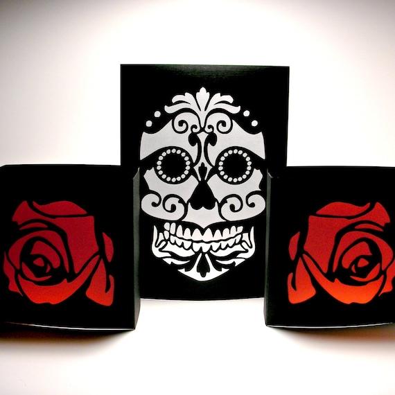 Dia de los Muertos Sugar Skull Luminaries Day of by ...