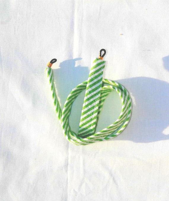 Green Stripe Seersucker Sunglass Croakies