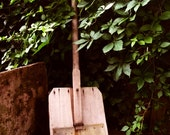ANTIQUE WOOD SHOVEL - Handmade Primitive 19th Century (probably originally a snow shovel)