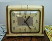 "c1930 ART DECO Wind Up CLOCK ""Rite Vu"" by Ingraham, Bristol Ct. // Free Shipping"