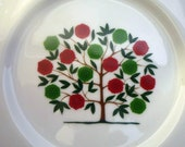 """Four """"Tree of Life"""" PLATES made for LORD & TAYLOR, New York.  Made by Dennis Edge 1981 - Free Shipping"""