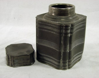 Antique PEWTER Canister - 18th Century TEA CADDY Canister
