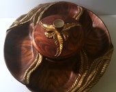 SALE - Huge Lazy Susan, California USA Pottery on Turning Tray