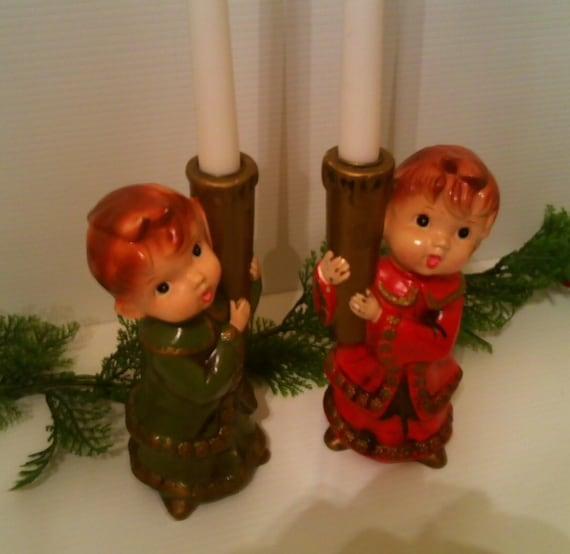 Vintage 4 Piece Christmas Carolers Décor Parma Aai Japan