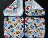 Flannel & Terry Cloth Wipes Dinosaurs