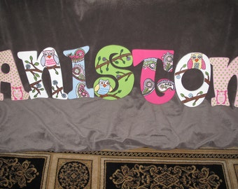 Owl Hand Painted Letters ***MESSAGE BEFORE ORDERING***