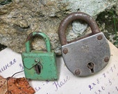 VINTAGE LOCKS for your heart. Use for mixed media art, jewelry, assemblage...