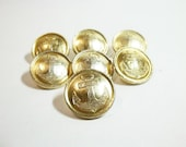 SET of 7 VINTAGE  NAVAL buttons, use for mixed media art, dolls, shadow boxes, scrapbooking,steampunk  jewelry.