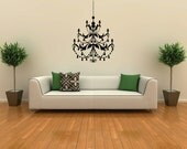Small Chandelier Vinyl removable wall decal FREE SHIPPING