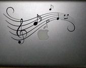 Music notes 15 inch Macbook Decal Vinyl Sticker Laptop