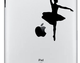 Ballerina iPad/iPad 2 Vinyl Decal  FREE SHIPPING